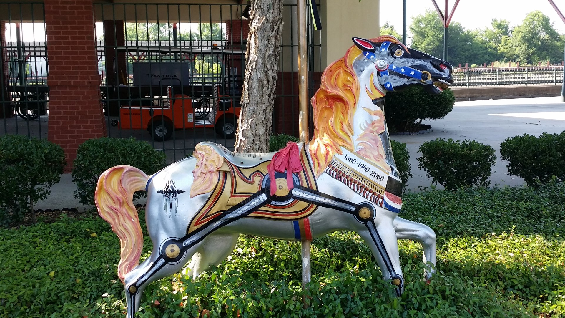 All around Meridian they had these horses.