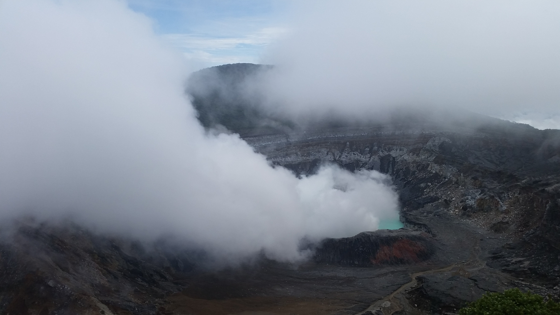 Live volcano that smoke still comes out from the crater