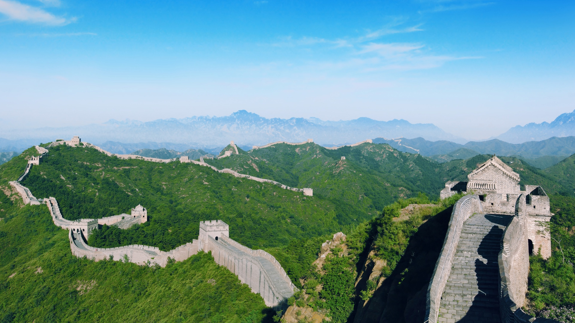Picture from alphacoders.  Other purposes of the Great Wall have included border controls, allowing the imposition of duties on goods transported along the Silk Road, regulation or encouragement of trade and the control of immigration and emigration. Furthermore, the defensive characteristics of the Great Wall were enhanced by the construction of watch towers, troop barracks, garrison stations, signaling capabilities through the means of smoke or fire, and the fact that the path of the Great Wall also served as a transportation corridor.