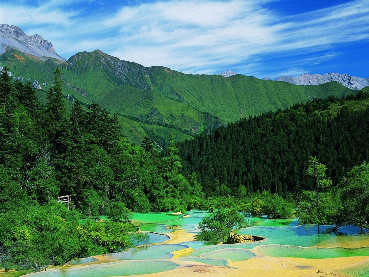 Picture from brothersoft.  Jiuzhaigou Valley was inscribed by UNESCO as a World Heritage Site in 1992 and a World Biosphere Reserve in 1997. It belongs to the category V (Protected Landscape) in the IUCN system of protected area categorization.