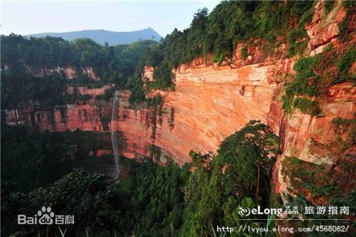 "Mount Danxia (Chinese: 丹霞山; pinyin: Dānxiá Shān) is a noted scenic mountainous area near Shaoguan city in the northern part of Guangdong, People's Republic of China.  It is described on the local signage as a ""world famous UNESCO geopark of China""."