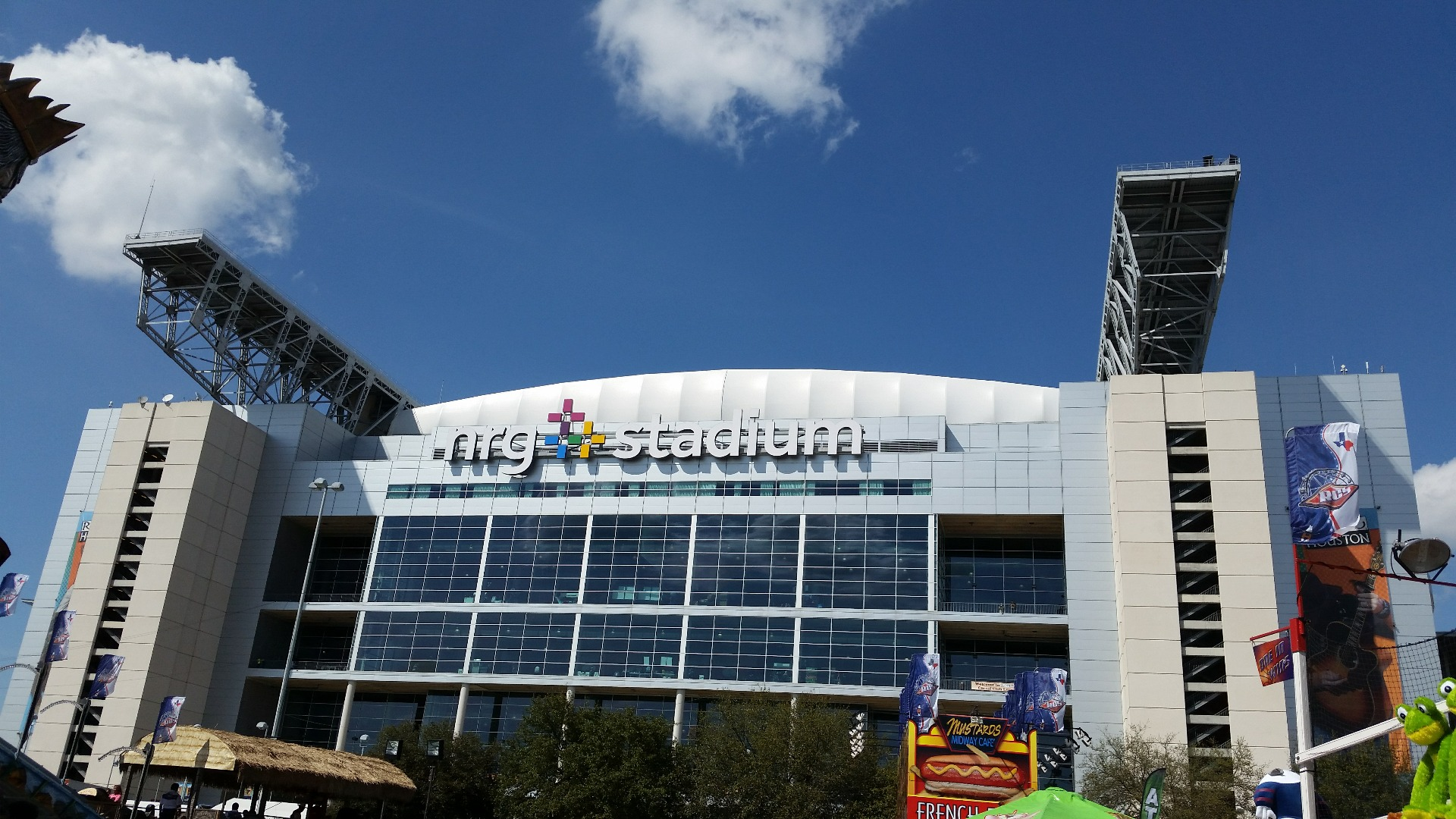 Before is Reliant Stadium bur about two years ago, rename to NRG Stadium