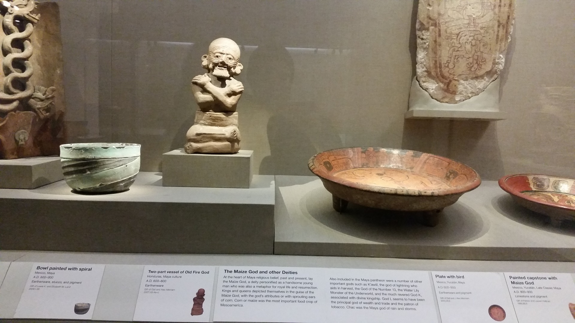 Two-part vessel of Old Fire God, Honduras, Maya culture